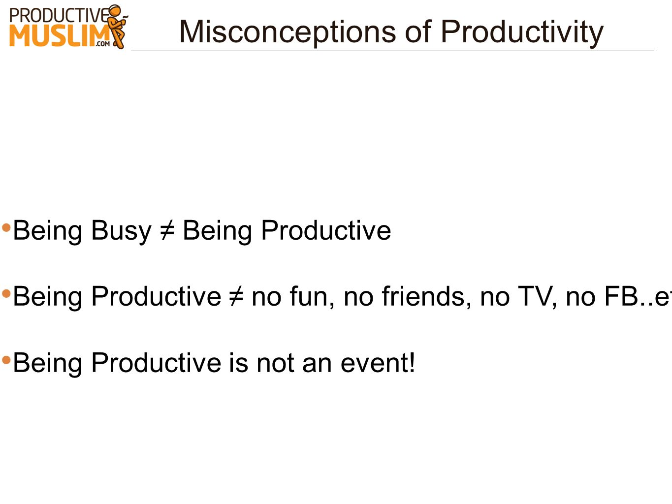 Misconceptions of Productivity