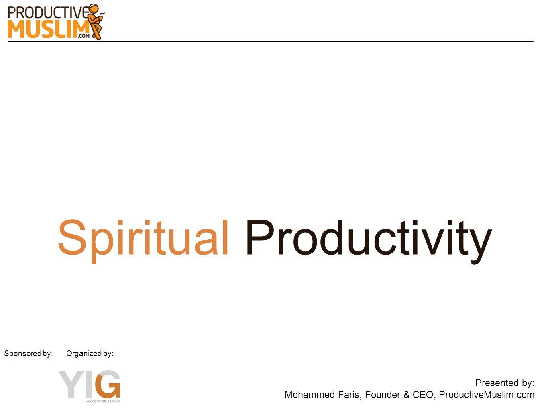 Spiritual Productivity