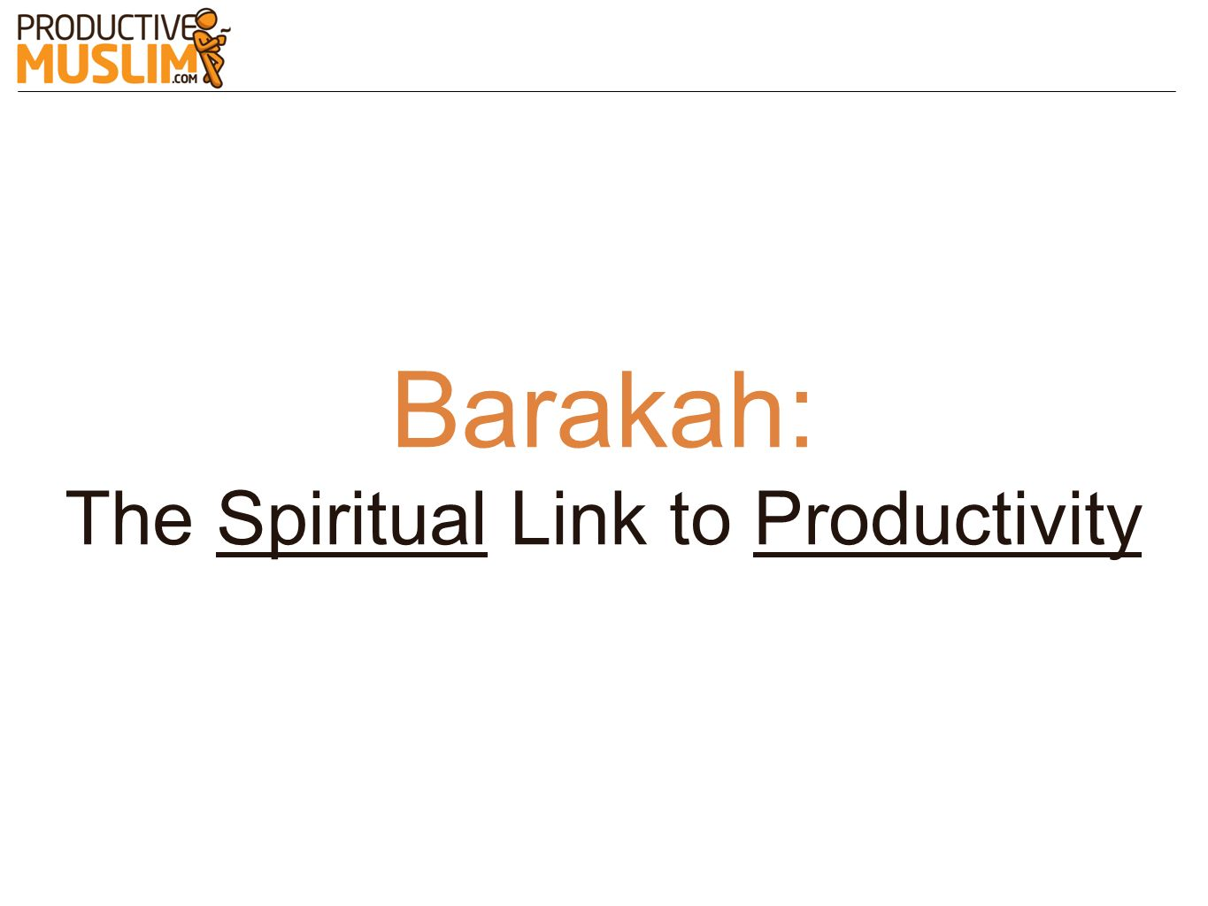 The Spiritual Link to Productivity