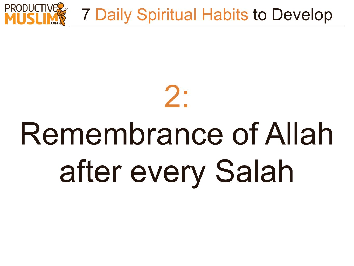 Remembrance of Allah after every Salah