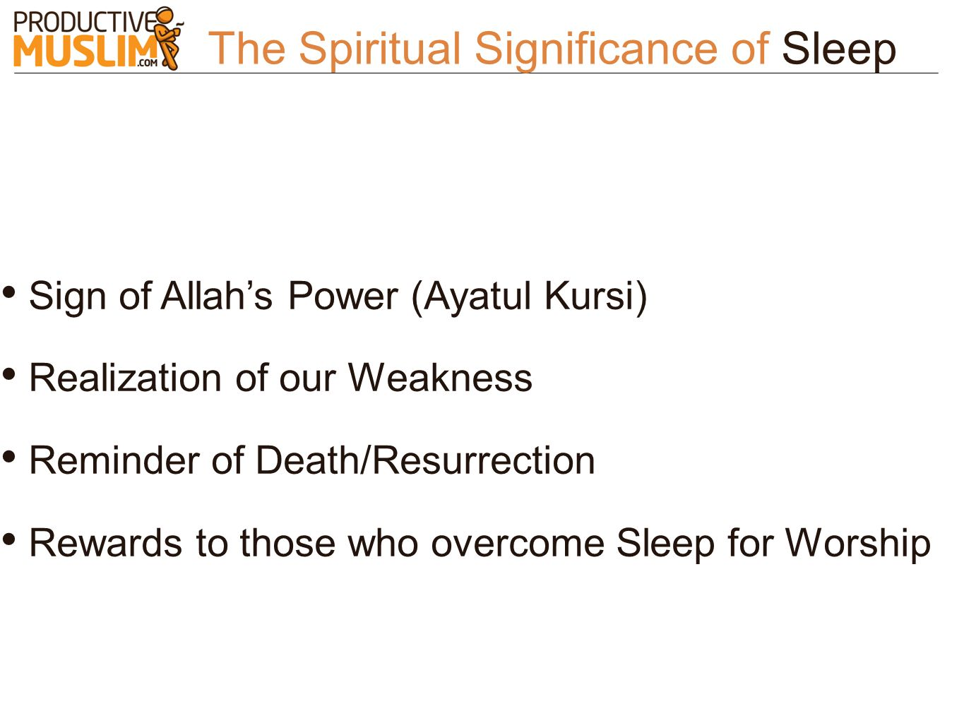 The Spiritual Significance of Sleep