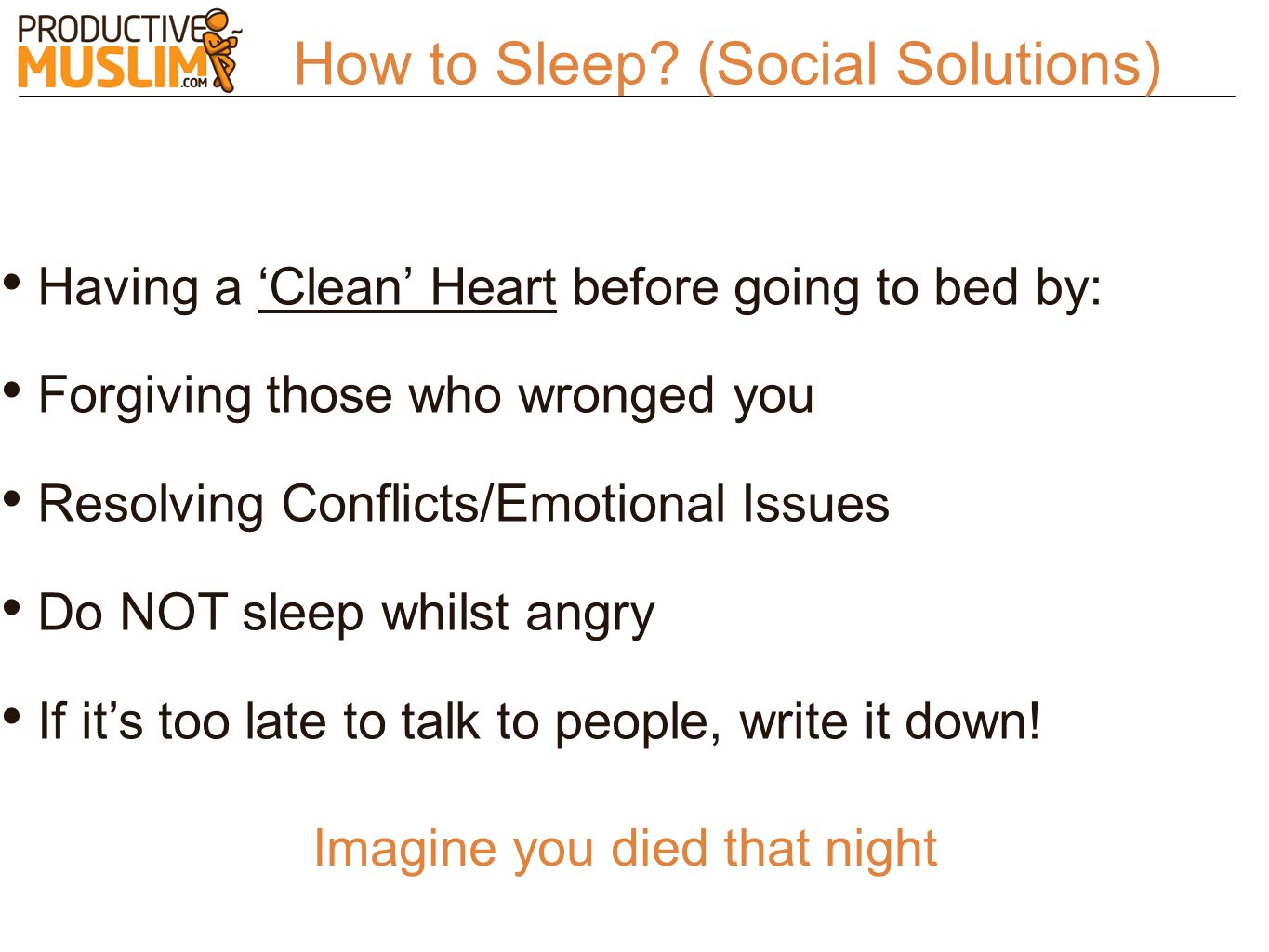 How to Sleep (Social Solutions)