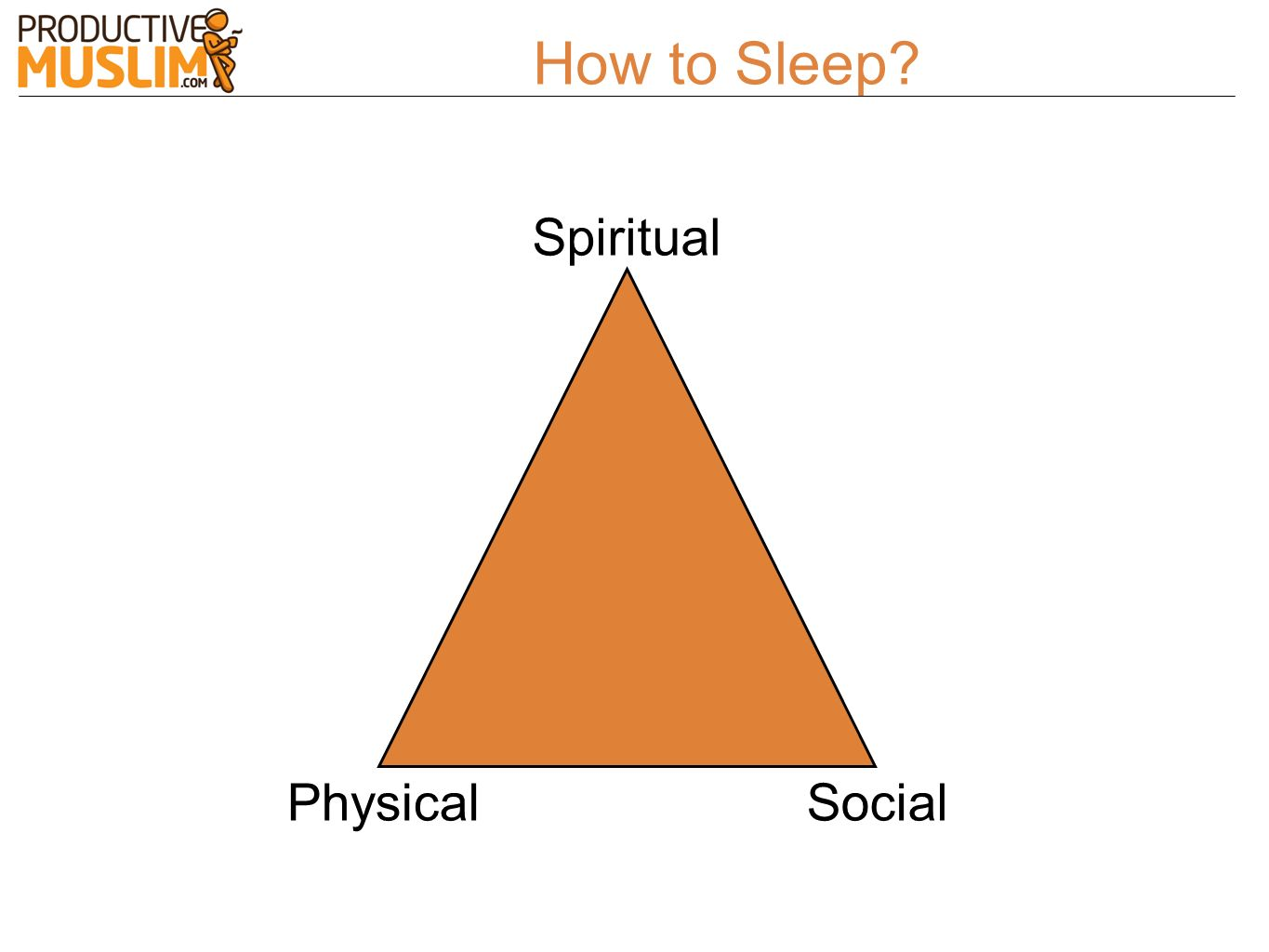 How to Sleep Spiritual Physical Social