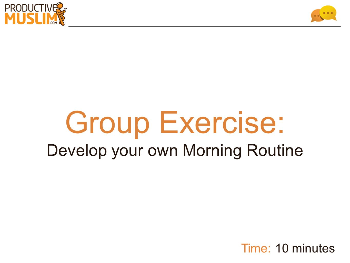 Develop your own Morning Routine