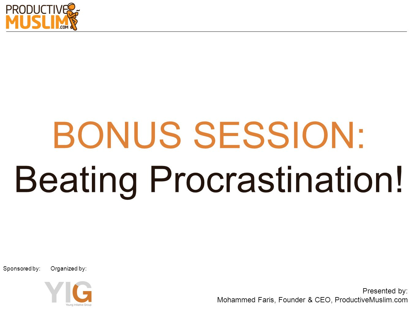 Beating Procrastination!