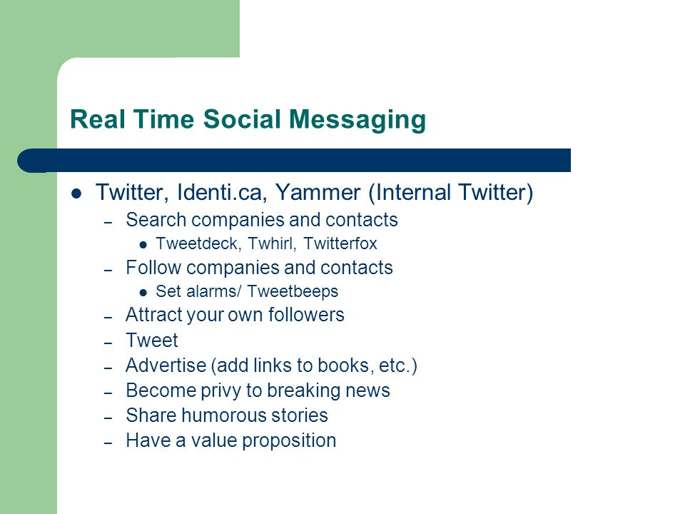 Real Time Social Messaging