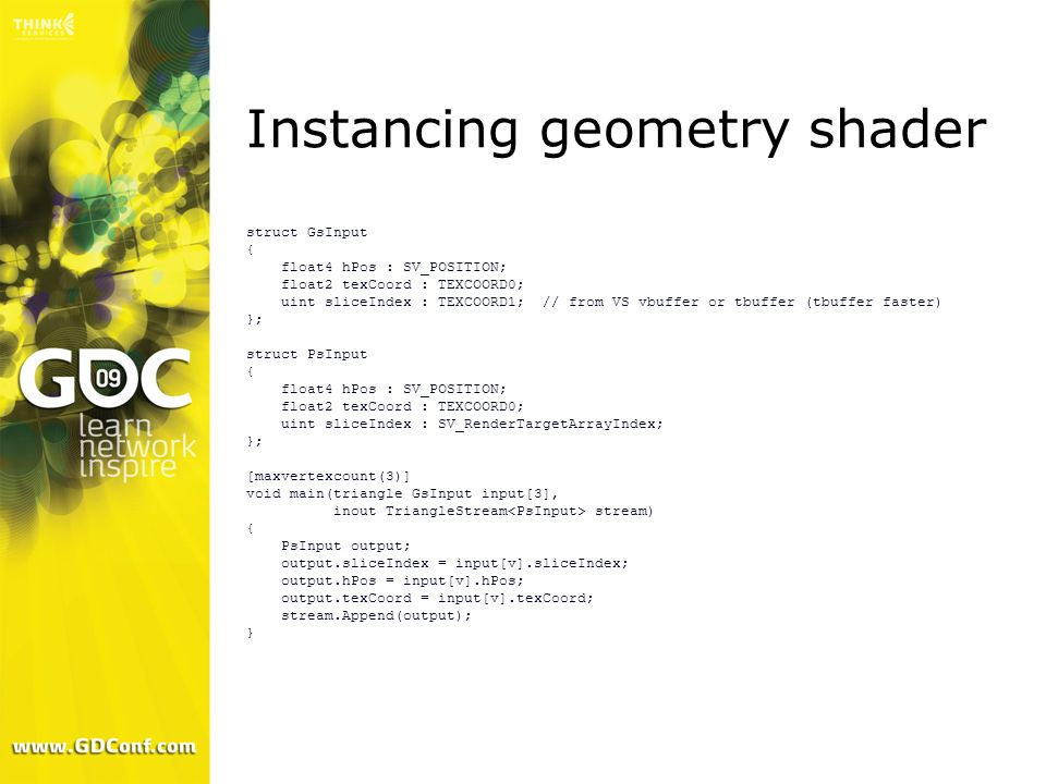 Instancing geometry shader