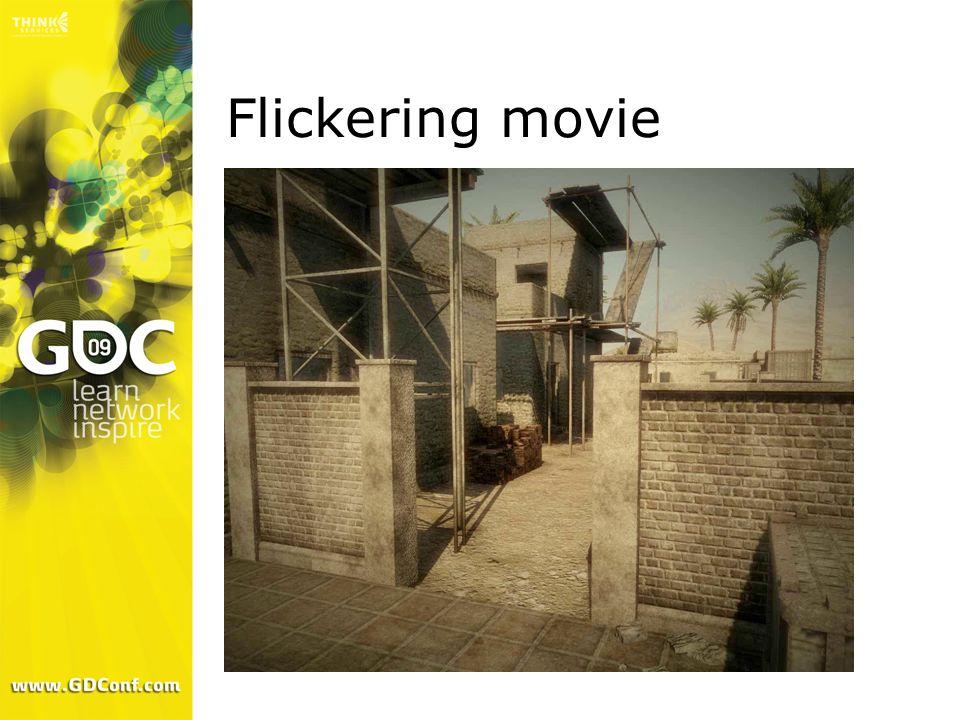 Flickering movie