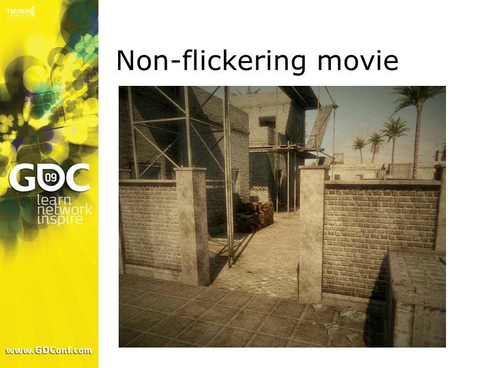 Non-flickering movie