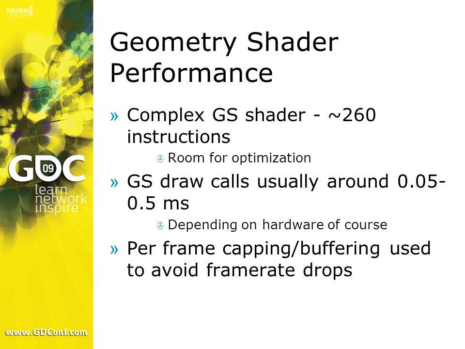 Geometry Shader Performance
