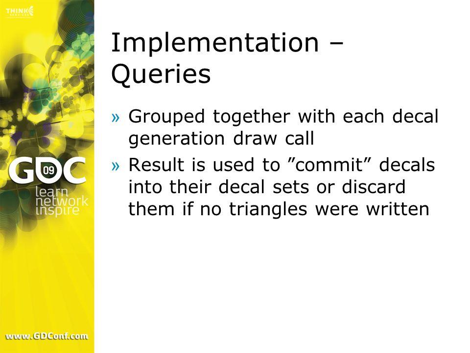 Implementation – Queries