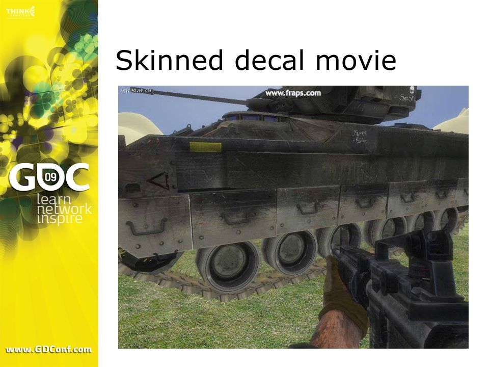 Skinned decal movie