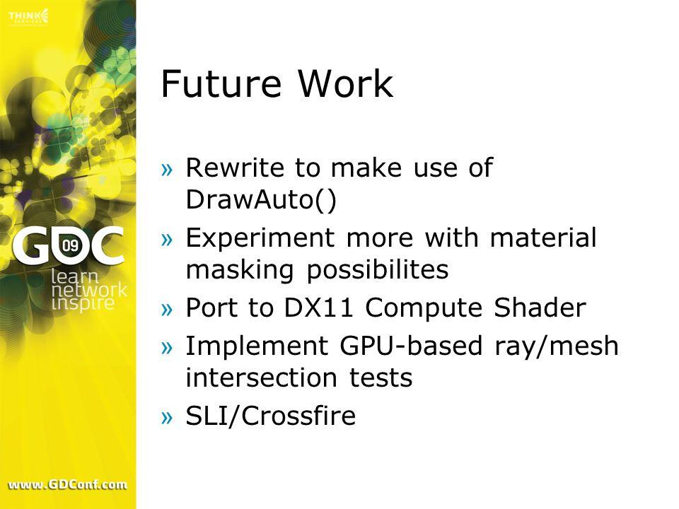 Future Work Rewrite to make use of DrawAuto()
