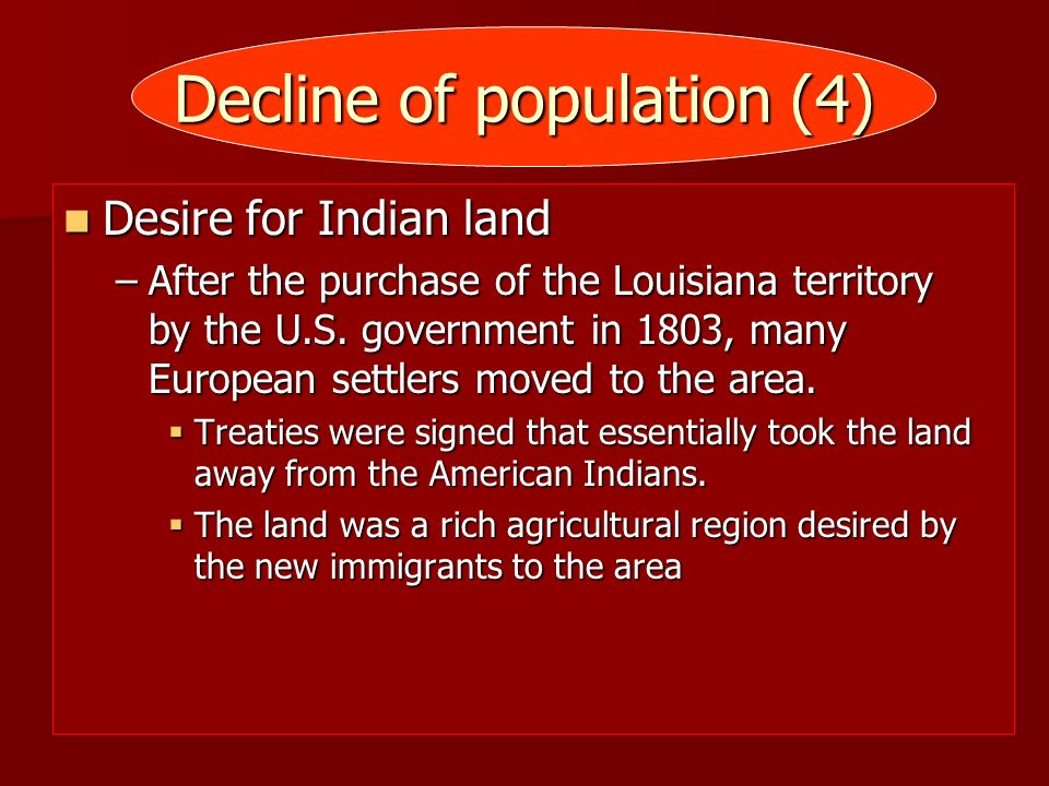 Decline of population (4)