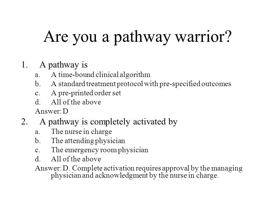 Are you a pathway warrior