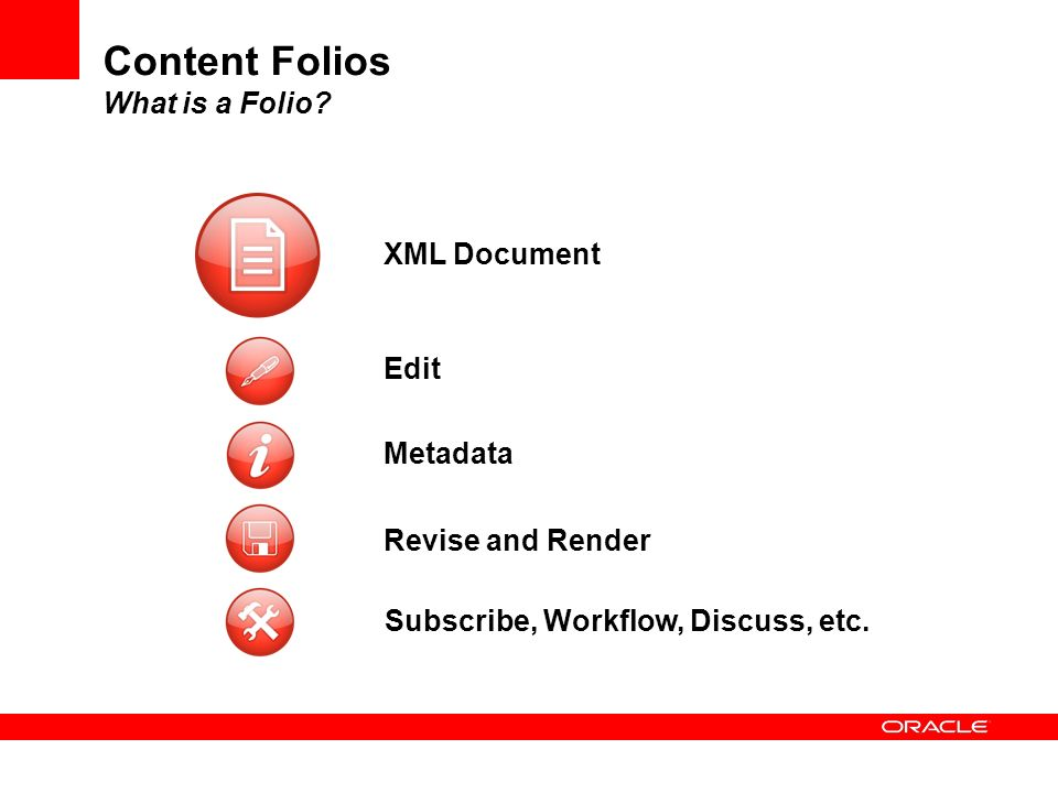 Content Folios What is a Folio
