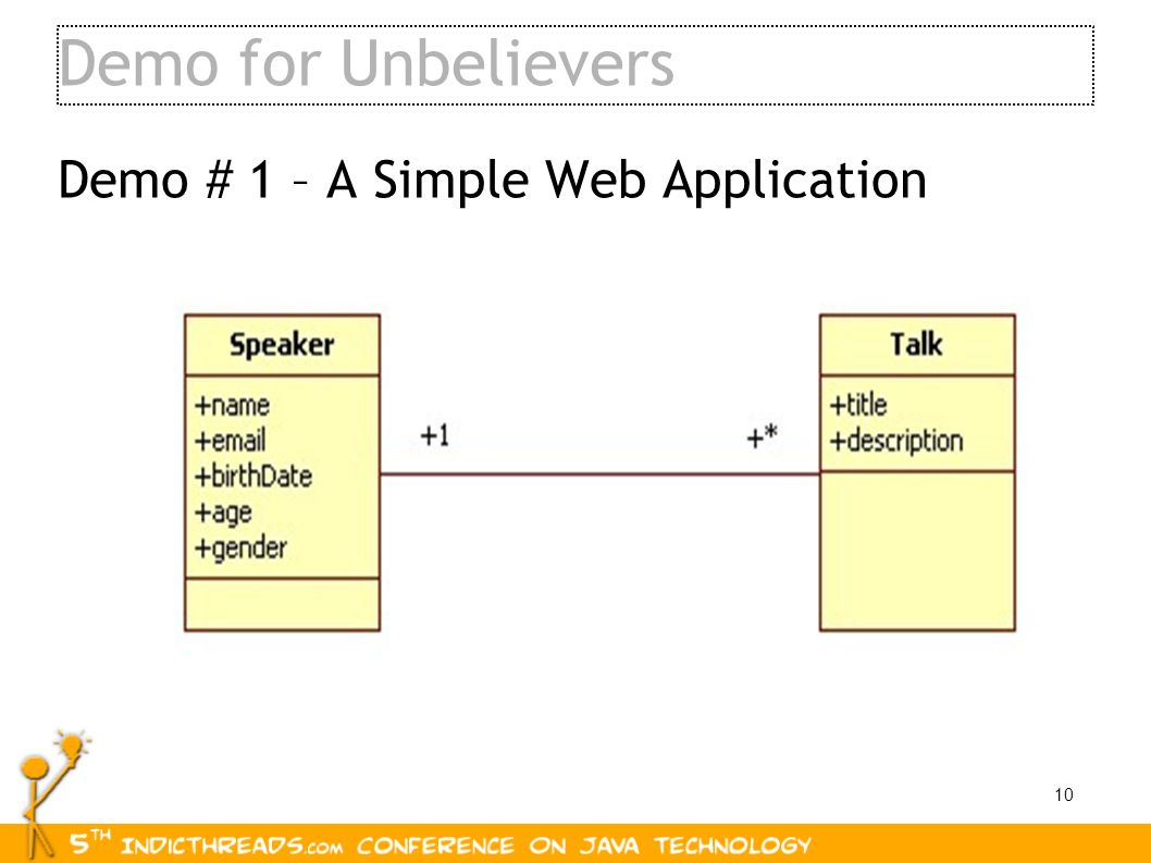 Demo for Unbelievers Demo # 1 – A Simple Web Application