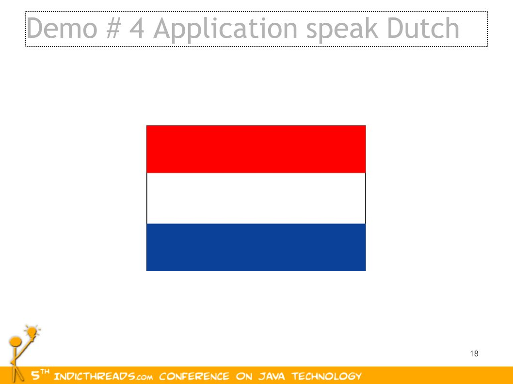 Demo # 4 Application speak Dutch