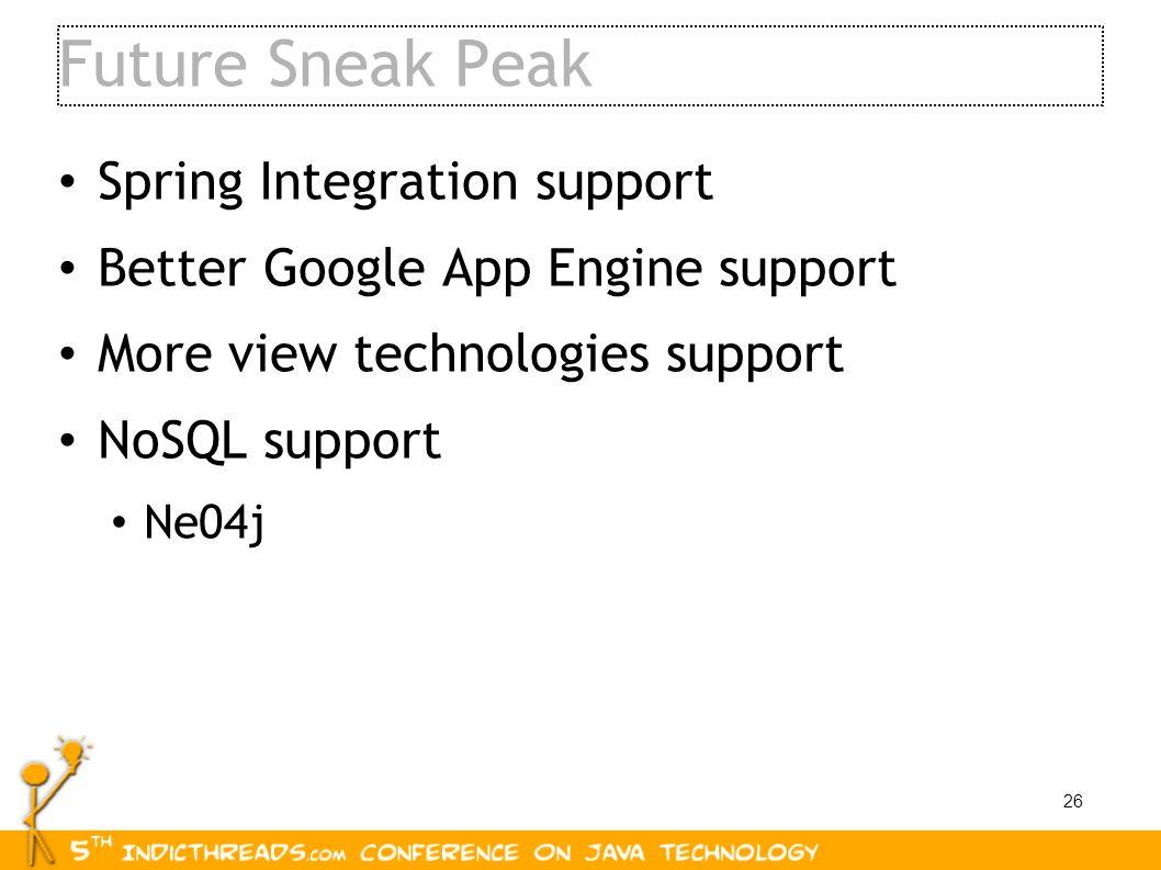 Future Sneak Peak Spring Integration support