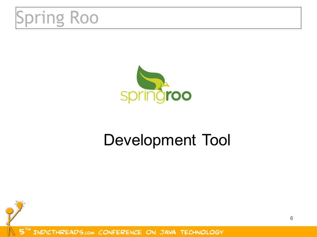 Spring Roo Development Tool