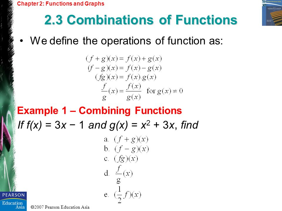 2.3 Combinations of Functions