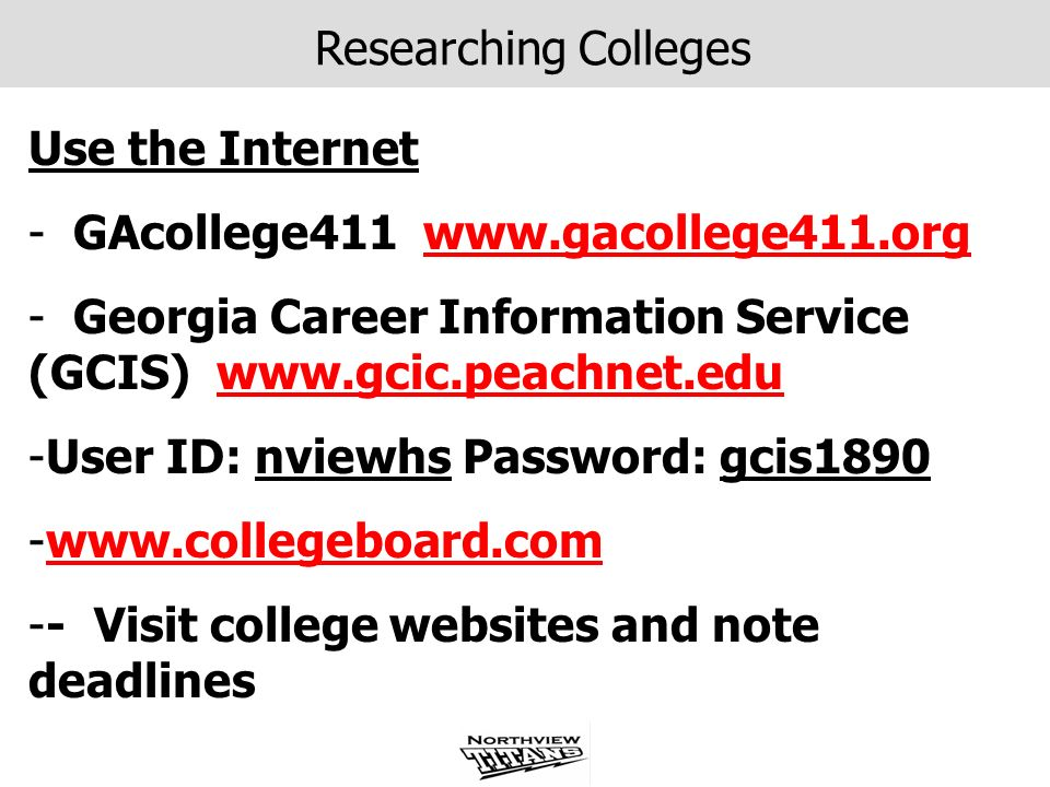 Researching Colleges Use the Internet