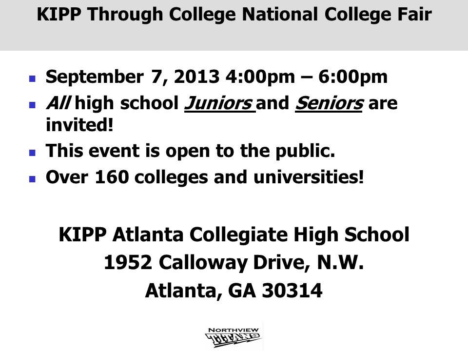 KIPP Through College National College Fair