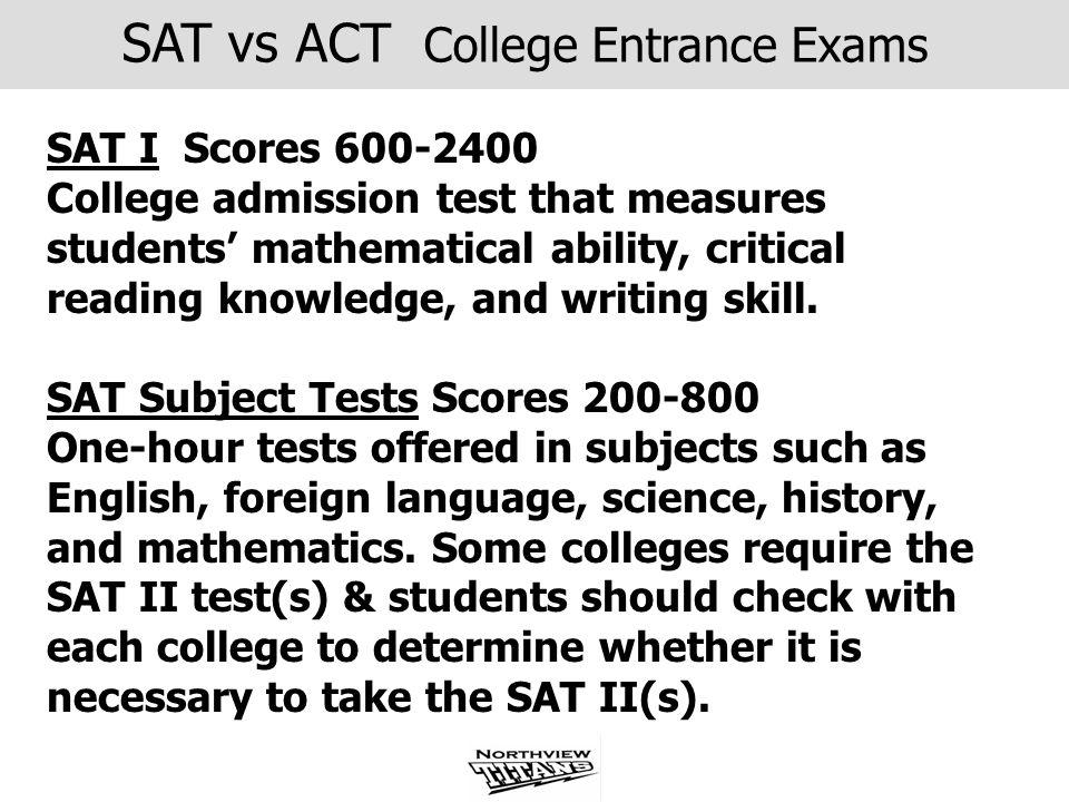 SAT vs ACT College Entrance Exams