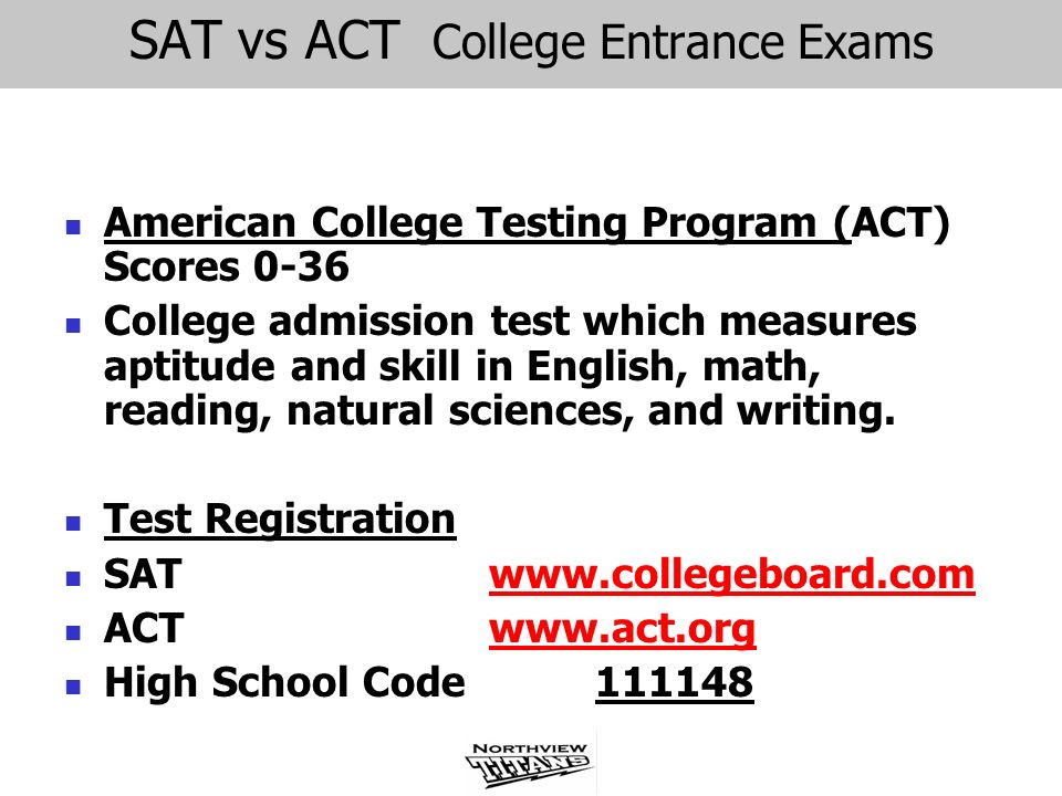 SAT vs ACT College Entrance Exams