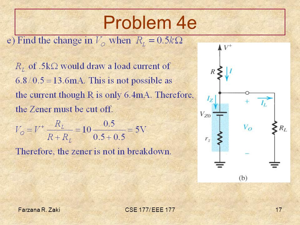 Farzana Rahmat zaki Problem 4e Farzana R. Zaki CSE 177/ EEE 177