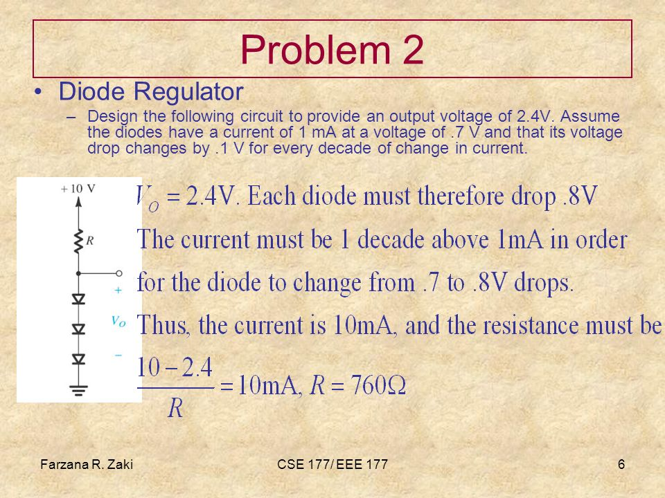 Problem 2 Diode Regulator