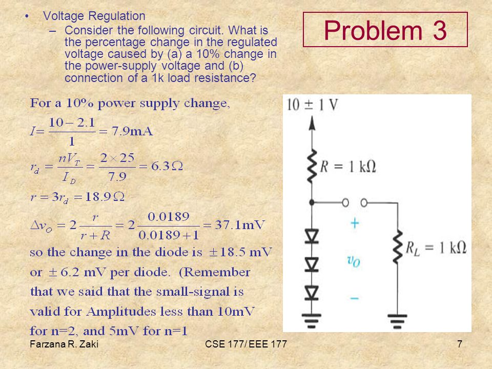 Problem 3 Voltage Regulation