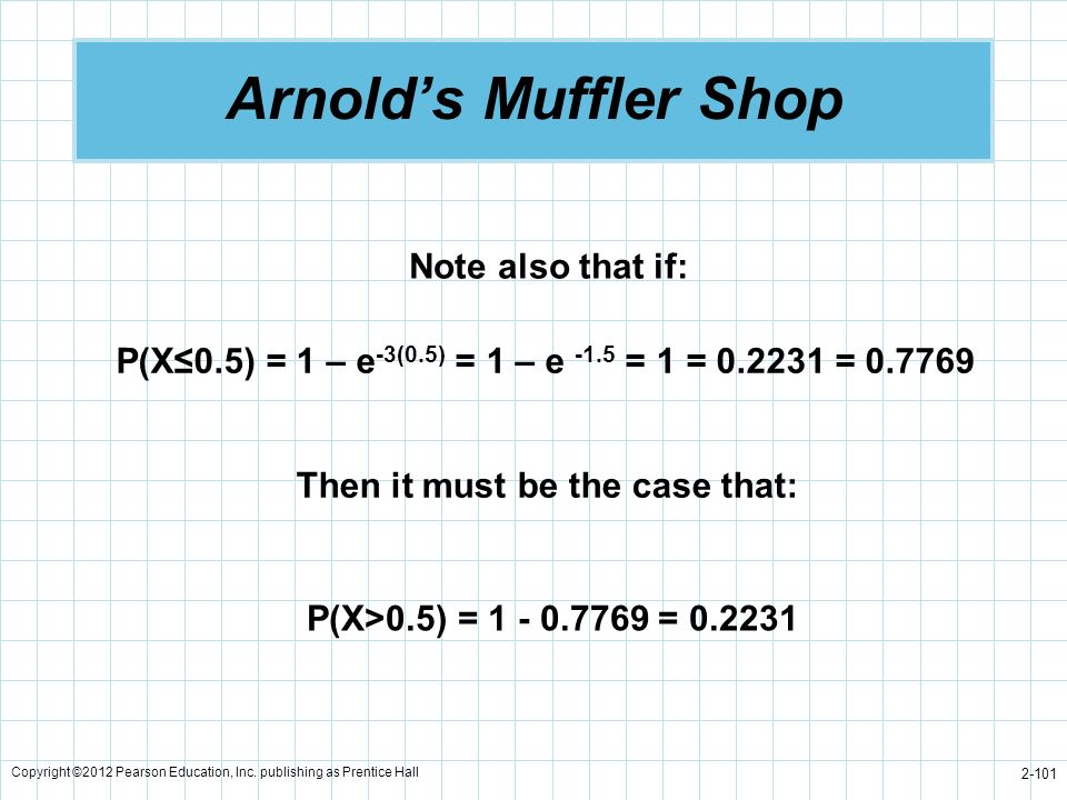 Arnold's Muffler Shop Note also that if: