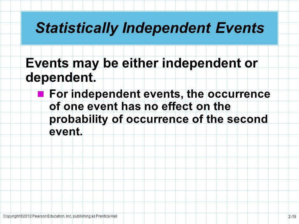 Statistically Independent Events
