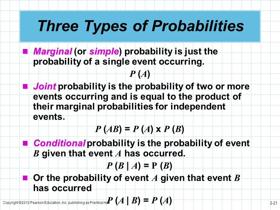 Three Types of Probabilities