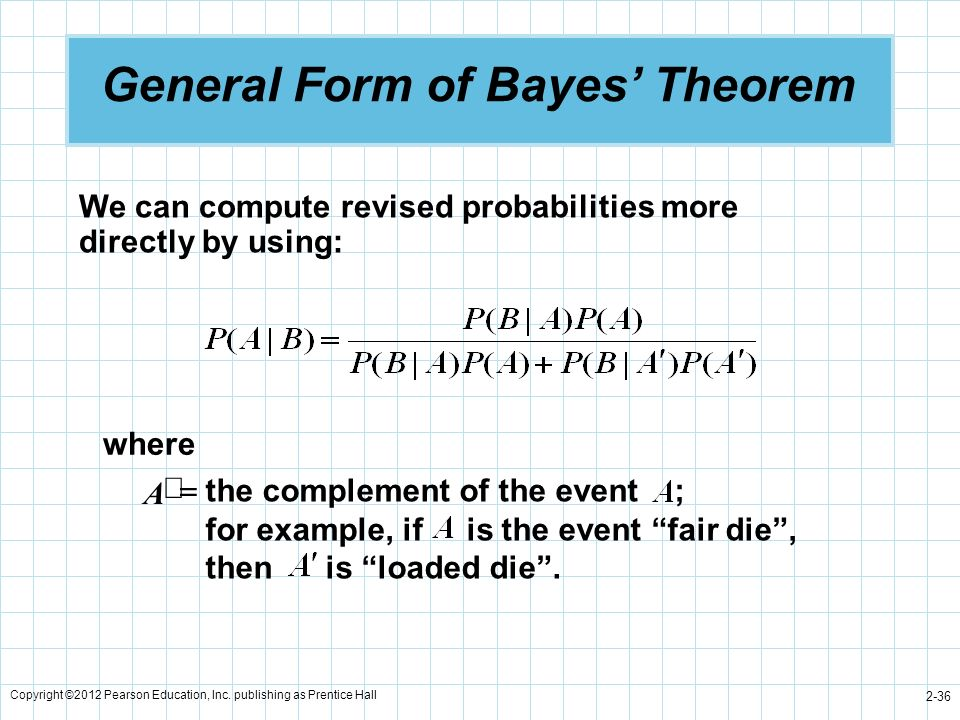 General Form of Bayes' Theorem