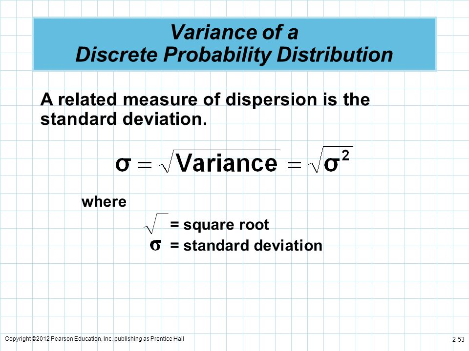 Variance of a Discrete Probability Distribution