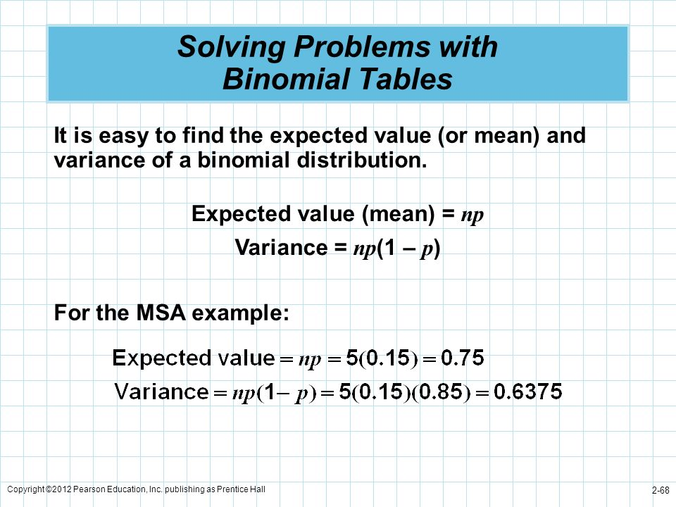 Solving Problems with Binomial Tables