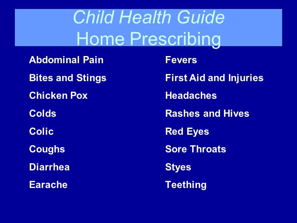 Child Health Guide Home Prescribing