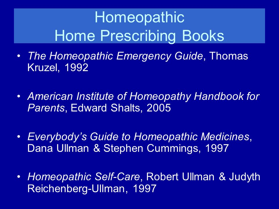 Homeopathic Home Prescribing Books