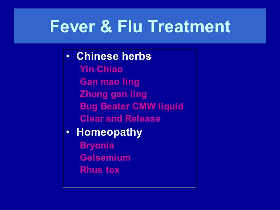Fever & Flu Treatment Chinese herbs Homeopathy Yin Chiao Gan mao ling