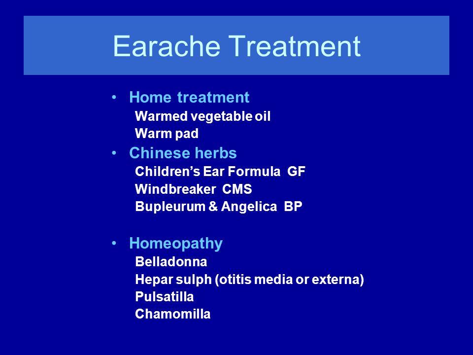 Earache Treatment Home treatment Chinese herbs Homeopathy