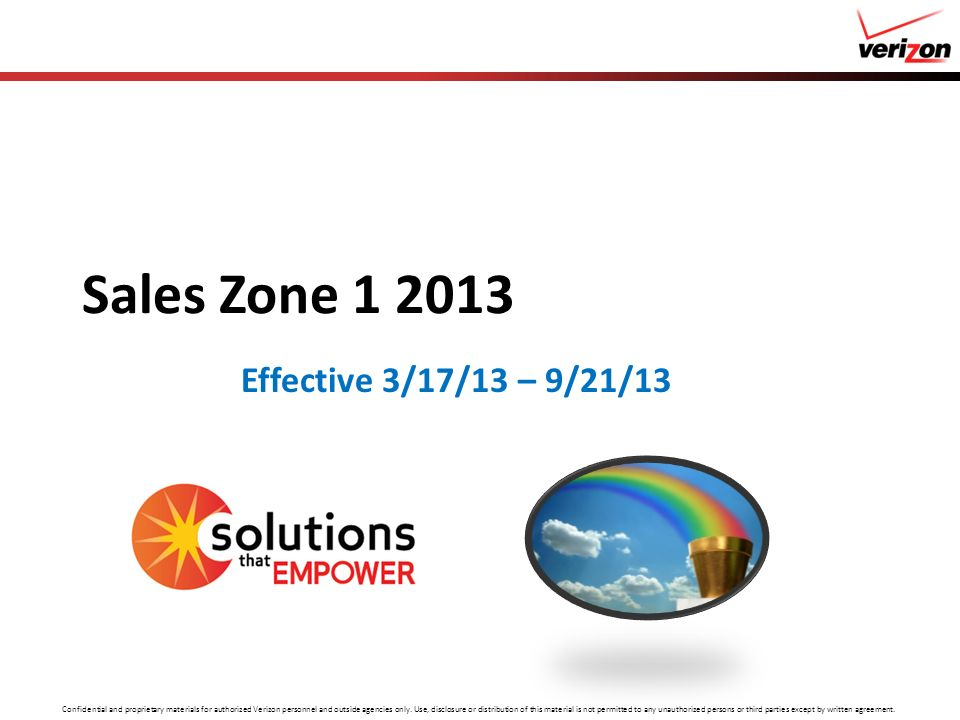 Sales Zone 1 2013 Effective 3/17/13 – 9/21/13