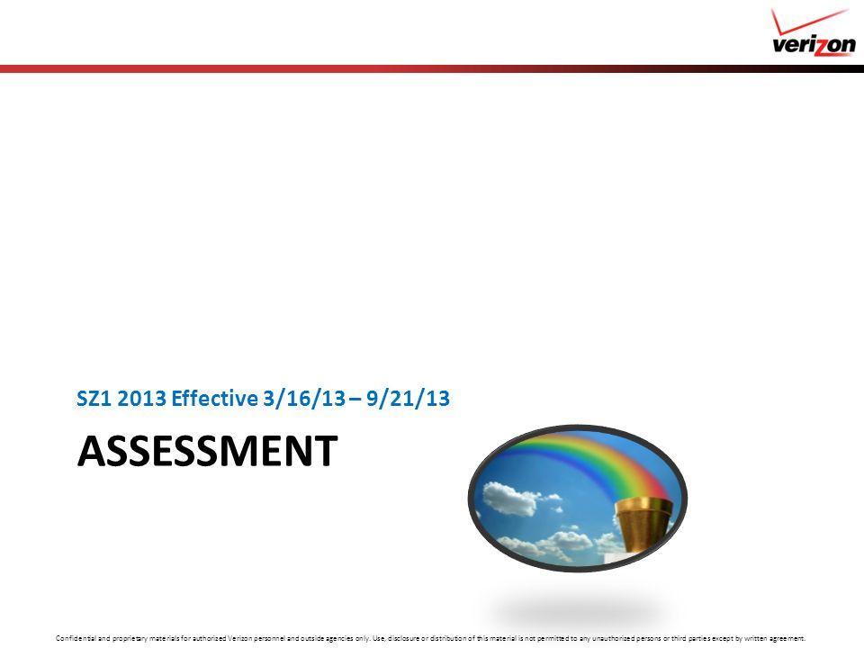SZ1 2013 Effective 3/16/13 – 9/21/13 Assessment
