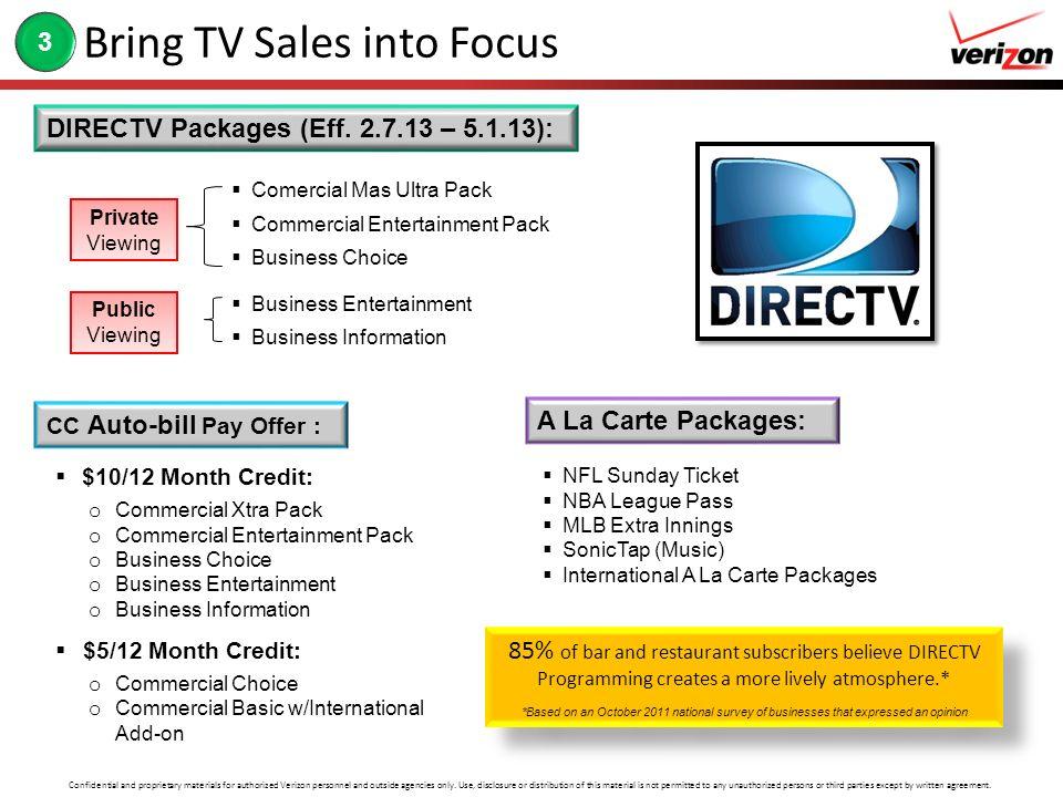 Bring TV Sales into Focus