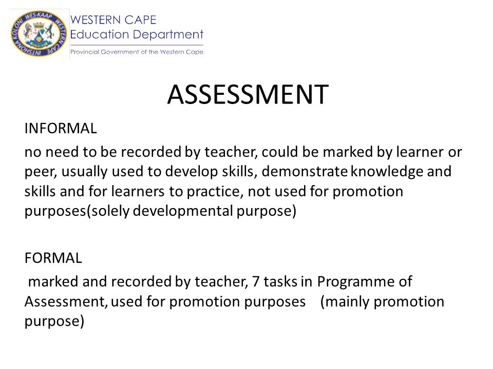 ASSESSMENT INFORMAL.