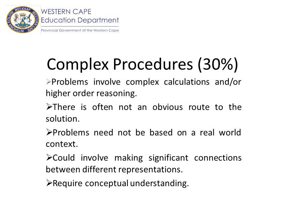 Complex Procedures (30%)