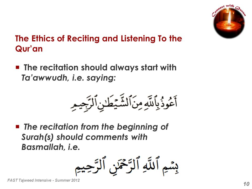 The Ethics of Reciting and Listening To the Qur'an