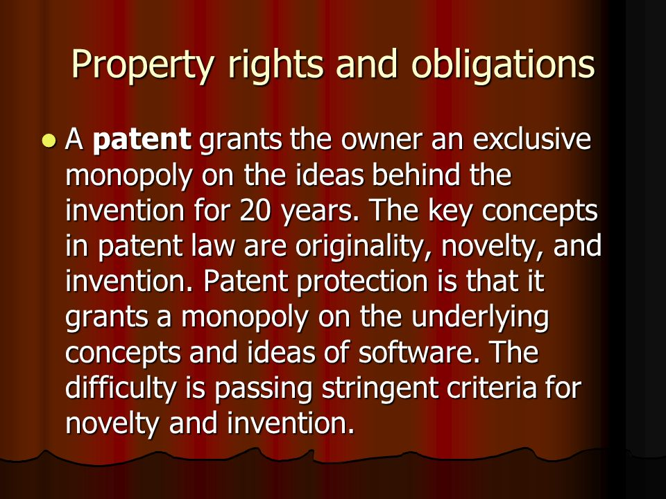 Property rights and obligations