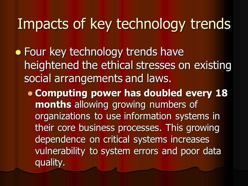 Impacts of information systems in business